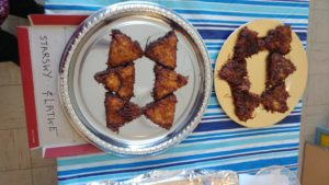 Triangular Latkes in the shape of the Star of David